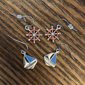 Sail swim earrings set